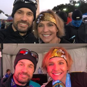 Louisiana Marathon with my wifey.  Before and After PR and BQ - 2018